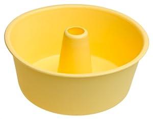 Amazon.com: Silicone Zone Yellow Silicone Angel Food Cake Pan ...