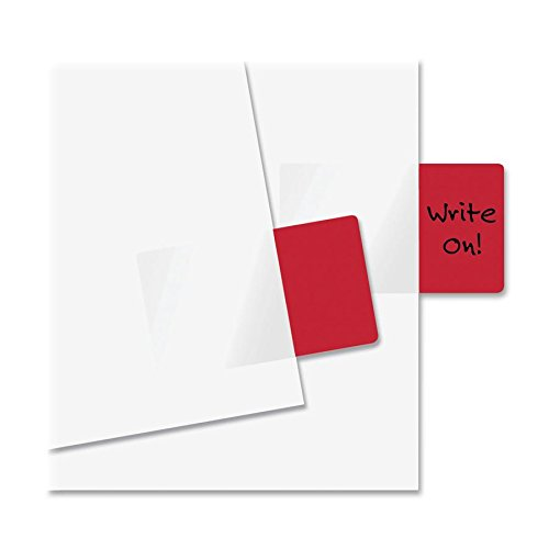 Redi-Tag(R) Standard Size Page Flags, 1in. x 1 11/16in, Red, Pack Of 50 by Redi-Tag