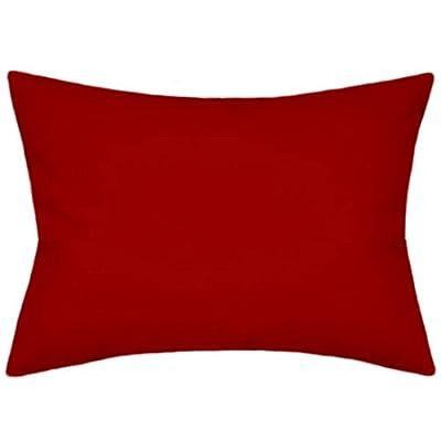 TPO Design Sunbrella Canvas Jockey Red Outdoor/Indoor Pillow 12x18 Rectangle: Home & Kitchen