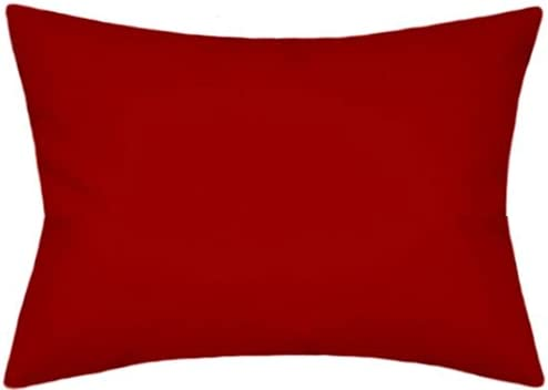TPO Design Sunbrella Canvas Jockey Red Outdoor Indoor Patio Pillow 12×18 Rectangle