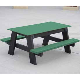 4' Kids Picnic Table, Recycled Plastic, Green (4' Kids Picnic Table)