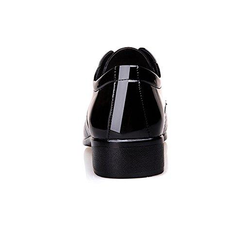 Couleur texture lacets basse pour supérieure Chaussures de homme PU lisse en Noir serpent respirant hommes shoes Noir doublés 43 Chaussures 2018 Xujw cuir oxford Taille peau EU anRw16qAx