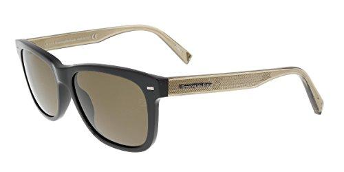 Ermenegildo Zegna EZ0028 01M Black Rectangle - Sunglasses Zegna
