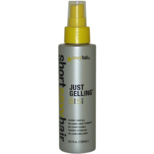 Sexy Hair Short Just Gelling Flexible Liquid Gel, 4.20-Ounce