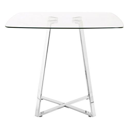 55c4cf678cc7 Premier Housewares Square Glass Dining Table