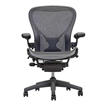 Herman Miller Classic Aeron Task Chair: Highly Adj w/PostureFit Support - Tilit Limiter w/Seat Angle Adj - Fully Adj Vinyl Arms - Carpet Casters
