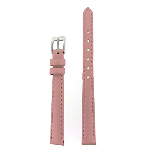 10 Band Watch Mm (Tech Swiss LEA350-10SS Watch Band Genuine Leather Pink 10 millimeters)