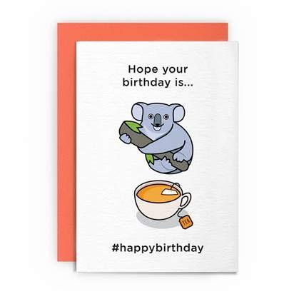 Tarjeta de cumpleaños divertida con diseño de oso y animales ...