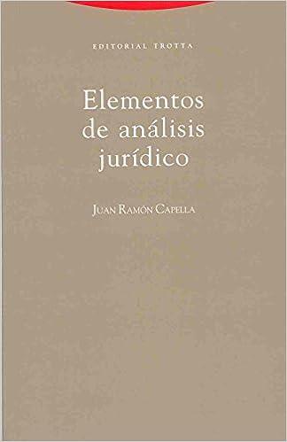 Descargar Libro Elementos de análisis jurídico (Estructuras y Procesos. Derecho) PDF Gratis