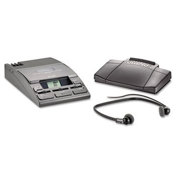 PSPLFH072052-720-T Desktop Analog Mini Cassette Transcriber Dictation System w/Foot Control by PHILIPS