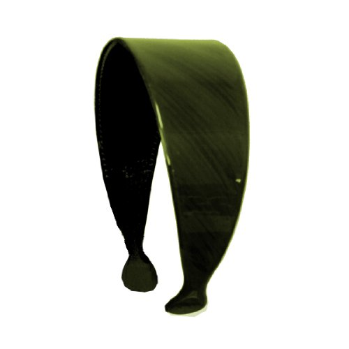 Olive Green with Black Strokes 2 Inch Headband Hair Band with Teeth (Keshet Accessories)