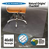 Natural Origins Chair Mat For Hard Floors, 46 X 60, Clear By: ES Robbins