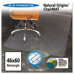 Natural Origins Chair Mat For Hard Floors, 46 X 60, Clear By: ES Robbins by Office Realm