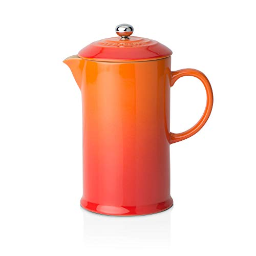 Le Creuset Dishwasher Safe Grill - Le Creuset Stoneware Cafetiere with Metal Press, 800 ml - Volcanic