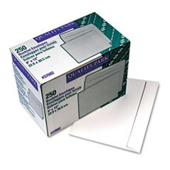 ** Open Side Booklet Envelope, Contemporary, 12 x 9, White, 250/Box
