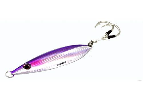 SHIMANO Butterfly Flat-Fall Fishing Jig 80G, Purple Silver by SHIMANO