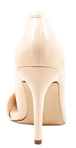 Elara - Pantuflas de caña alta Mujer Beige