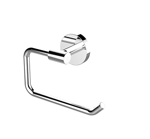 Eviva EVAC060BN Round Holdy Toilet Paper Or Towel Holder Bathroom Accessories Combination, Brushed Nickel