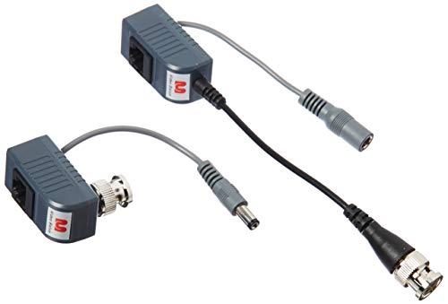 Monoprice 106878 1 Channel Passive CCTV BALUN - Video/Power Over Cat5 (Black)