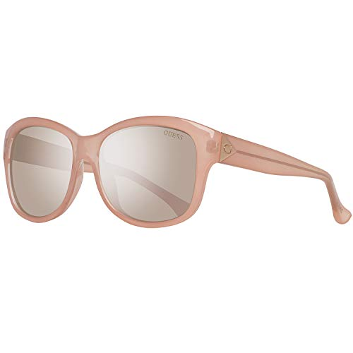 GUESS Unisex GF0259 Pink/Brown Mirror Lens One Size (Sonnenbrille Damen Guess)