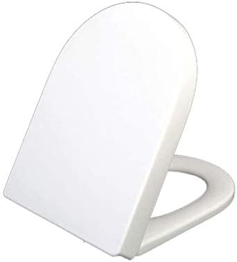 CXMWYトイレのふた Uは浴室のための白い便座ソフトクローズクイックリリーストイレのふた高速修正ふた抗菌ルーカバーの形状