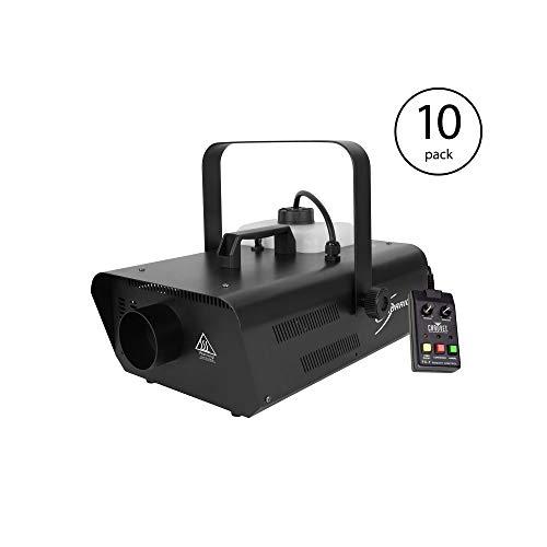 Chauvet DJ Hurricane Smoke Fog Machine Party Fogger w/Wired Remote (10) -