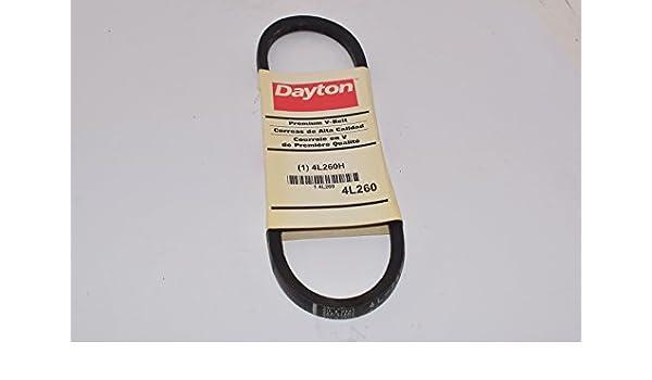 """DAYTON 4L200 1//2/"""" W x 20/"""" L V-Belt 1 Rib 4L200"""