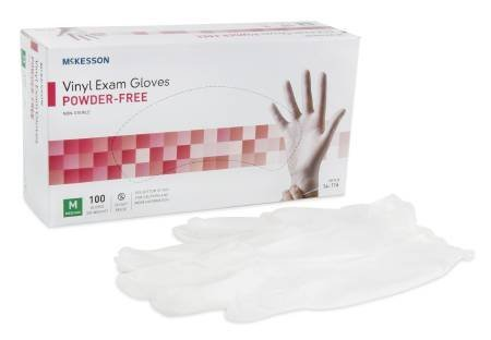 McKesson Power-free Vinyl Exam Gloves Size M Box-150