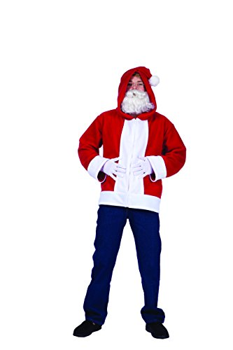 RG Costumes Men's Santa Claus Hoodie, Red/White, Large (Santa Claus Costumes For Sale)