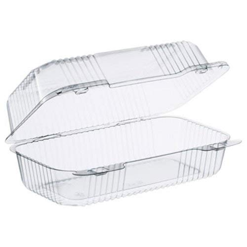 Dart C35UT1 9 in Med Oblong Clear Hinged Container, 9.0 X 5.4 in (Case of 250) ()