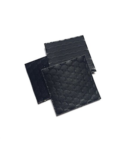 3 Pack black Tactical Infrared Ir Reflective glint Square Hook/loop Backed - 1 Inch X 1 Inch