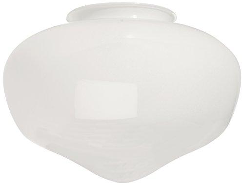 (Ellington K068 White School House Shaped Fan Glass, Neck,)