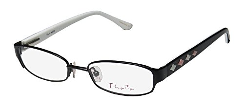 Thalia Moda Womens/Ladies Rxable Newest Season Designer Full-rim Spring Hinges Eyeglasses/Eyeglass Frame (48-16-130, Black / (Green Ranger Morph Suit)
