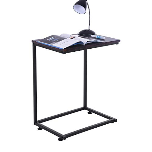 Sofa Side End Table, C Shaped Table Laptop Holder, End Stand Desk Coffee Tray Side Table, Notebook Tablet Beside Bed Sofa Portable Workstation, Over Bed Table & TV Tray Side Table