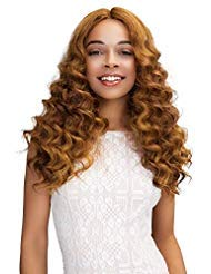 JANET COLLECTION SWISS LACE EXTENDED PART DEEP WIG - GABRIELA (1 (JET BLACK))