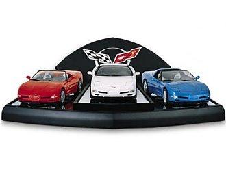 Franklin Mint Chevrolet Corvette All American 3 Car Set Model Car Set