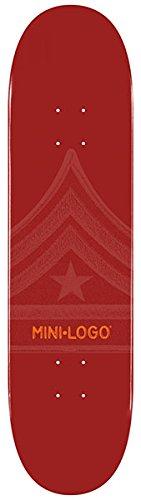 "Mini Logo 191/K-16 Maroon Skateboard Deck - 7.5"" x 31.38"""