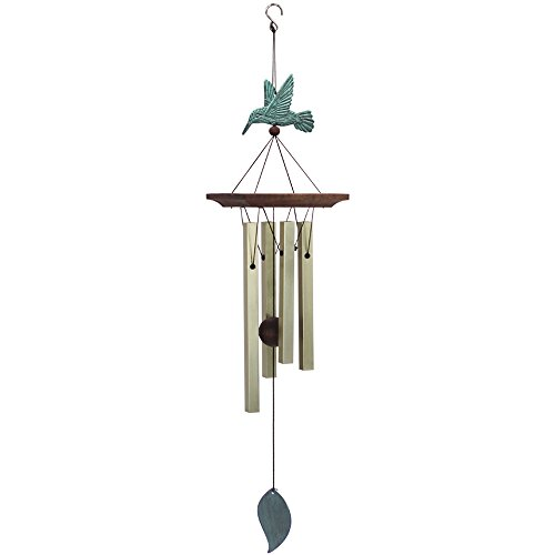 Hummingbird Amazing Grace Wind Chimes Wind Chimes with 4 Square Metal Tubes