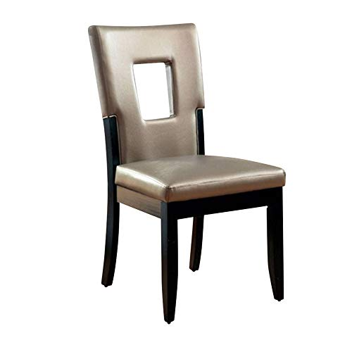 (Benzara BM131231, Set of Two, Black Evant I Contemporary Side Chair (Set of 2), Finish)