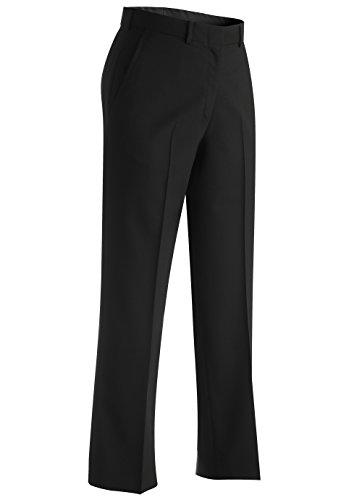 Edwards Women's Lightweight Flat Front Dress Pant, Black, 0 25 -