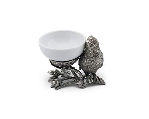 Vagabond House Pewter Song Bird Nest Salt Cellar 4