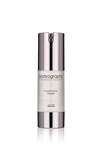 Bodyography Foundation Primer (Clear): Anti-Aging Salon Makeup Primer w/ Vitamin E, A, Jojoba, Grapeseed Oil, 1 oz