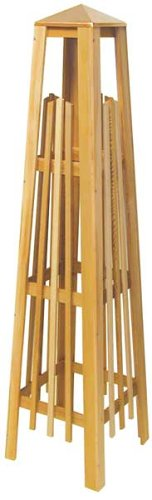 Arboria Garden Trellis Cedar Wood 56 Inch Height Obelisk Pyramid Shape With Copper Cap ()