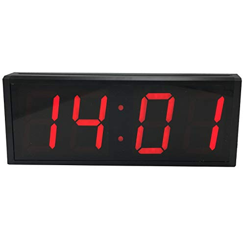 BTBSIGN 5'' Smart Digital Countdown Clock Large Gym Wall Clock Stopwatch with Remote