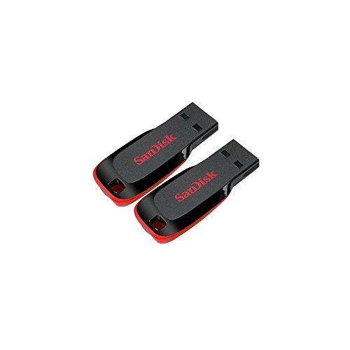SanDisk SDCZ50-032G-2PK 64GB (32GB x 2) Cruzer Blade USB 2.0 Flash Drive Jump Drive Pen Drive- Two Pack