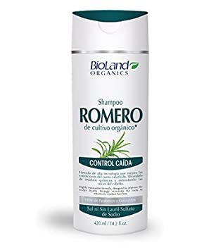 Organic Rosemary Shampoo for Hair Loss 14.2 fl.oz.   Shampoo de Romero Orgánico 420 ml