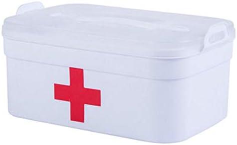 Botiquín de primeros auxilios/Estuche de almacenamiento para medicina/ Estuche de pastillas/Envase-Blanco: Amazon.es: Salud y cuidado personal