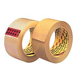3M Scotch Brand Tape No. 375 - 2'' X 55 Yards - 3.1 Mil - Superior Performance Grade - Clear - Lot of 36