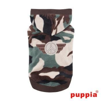 Corporal Hooded Dog Shirt by Puppia - Camo by Puppia