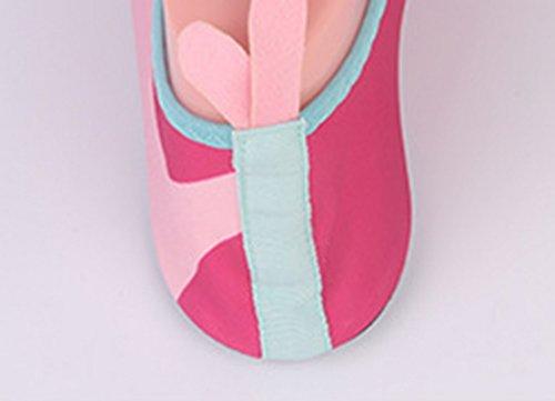 Panegy Kinder Adult Outdoor Atmungsaktive Anti-Slip Aqua Wasser Haut Schuhe für Beach Fitness Yoga Übung Rosa